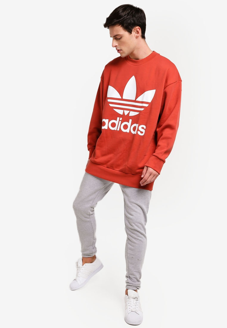 originals tref adidas over Shift crew Orange adidas RSqfPxwFnx
