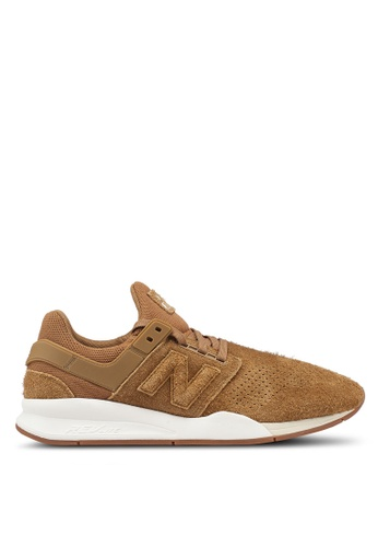 New Balance brown 247 Lifestyle Shoes 7B5BBSH158BFAAGS_1