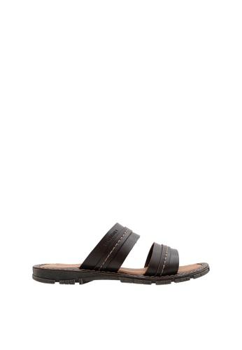 SEMBONIA brown Men Synthetic Leather Sandal 99996SH2C1F738GS_1