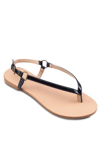 金屬環夾腳繞踝涼zalora 男鞋 評價鞋, 女鞋, 鞋