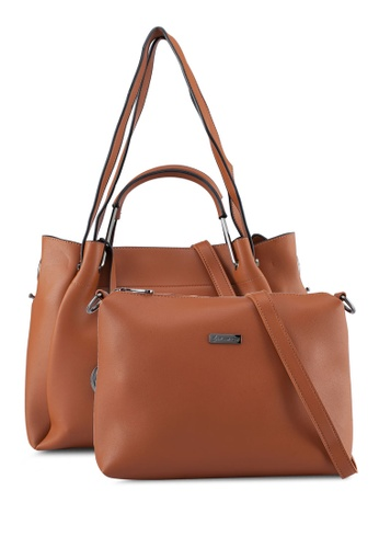 PLAYBOY BUNNY brown Playboy Bunny 2in1 Ladies Bag 54A70AC226CE9DGS_1