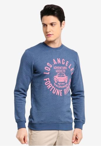 ESPRIT blue Long Sleeve Sweatshirt 16B1FAA3435ED4GS_1