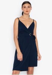 Susto The Label blue Mel Eyelet Wrap Dress 26FA7AA3F2CB92GS_1