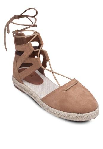 包頭繫帶羅馬涼鞋、 女鞋、 涼鞋Perllini&Mel包頭繫帶羅馬涼鞋最新折價