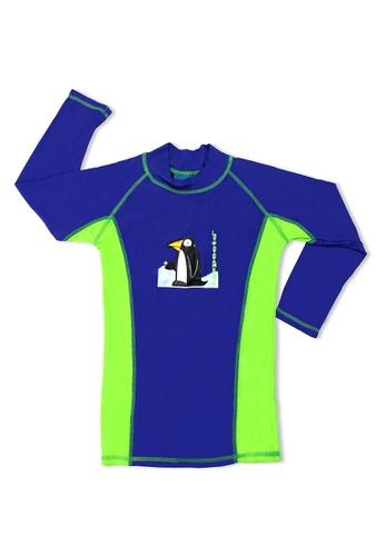 TeePeeTo green Penguin UV50+ Long Sleeve D3317KA0B3D0E2GS_1