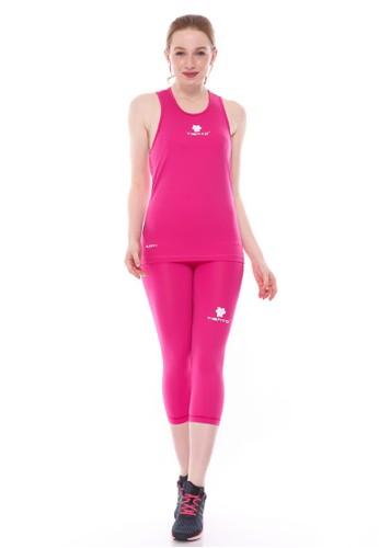 Jual Tiento Tiento Women Basalayer Singlet Pink Olahraga Dan Celana Legging Sport Sebetis Wanita 3 4 Pants 1 Stel Original Zalora Indonesia
