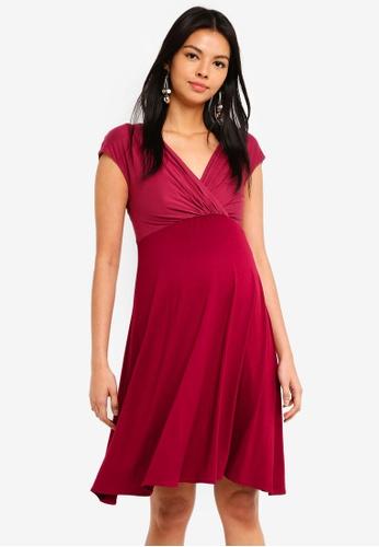 Tiffany Rose red Maternity Alessandra Dress 30AEFAA4948719GS_1