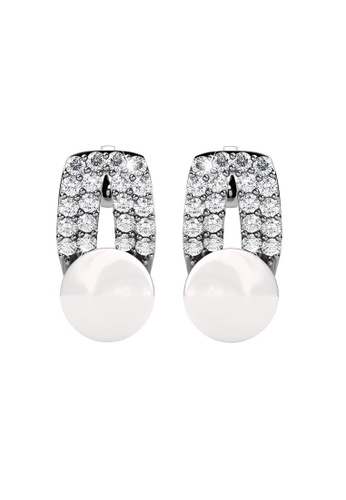 Her Jewellery silver Her Jewellery Pearlie Earrings with 18K Gold Plated HE581AC0RBBEMY_1