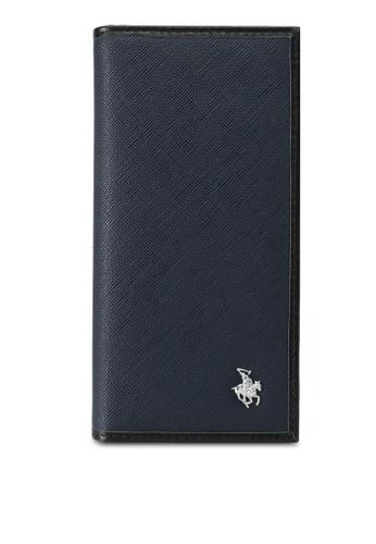 Swiss Polo blue and navy Swiss Polo Bi-Fold Long Wallet SW912AC0SJY0MY_1