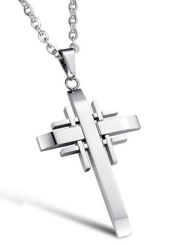 Trendyshop silver Cross Pendant Necklace 4CB7FAC9D98B25GS_1
