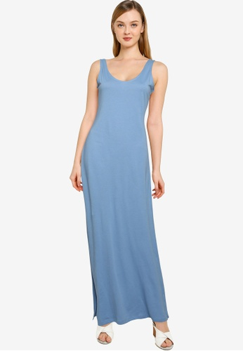ONLY blue May Life V-neck Dress 7F784AAFD390D6GS_1
