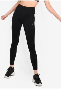 5e2abfced3ed17 Calvin Klein black Reflective Stripe Leggings - Calvin Klein Performance  93E95AAE243B69GS_1