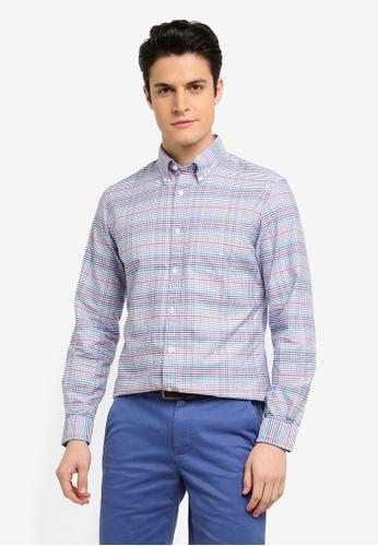 Brooks Brothers 白色 格紋休閒襯衫 C508CAA3E187A3GS_1