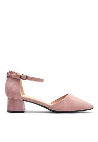 Twenty Eight Shoes 粉紅色 尖頭小踭鞋166-8 A2001SH011C074GS_1