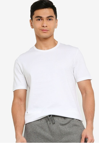 BOSS white Tiburt 137 T-Shirt AEDA6AA4697701GS_1