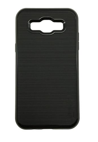 Nadjames black Slim Neo Hybrid Brushed Soft Silicon TPU Case for Samsung Galaxy J7 NA782AC44ISXPH_1