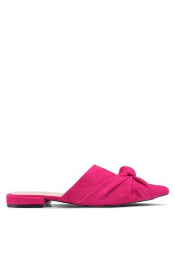 Public Desire pink Royal Knot Detail Slip On Mules 090C2SH02BD4A5GS_1