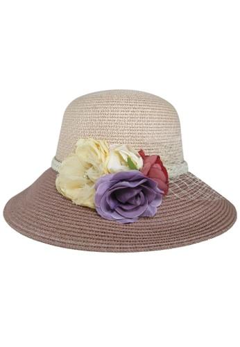 BALLIN purple Topi Wanita ROSE BLOM PURPLE BROWN BA843AC0UOSKID_1