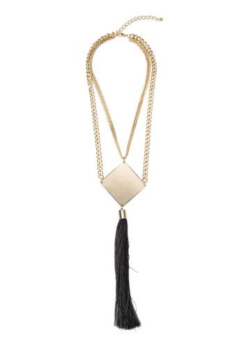 zalora 台灣門市金屬吊墜鍊式項鍊, 飾品配件, 項鍊