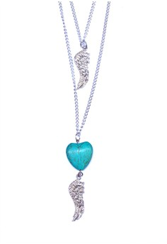 Heart Wing Layered Necklace