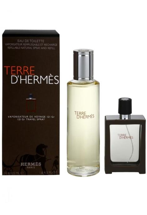 Hermès Hermes Terre d'Hermes香水旅行噴霧和補充裝 30 & 125ML