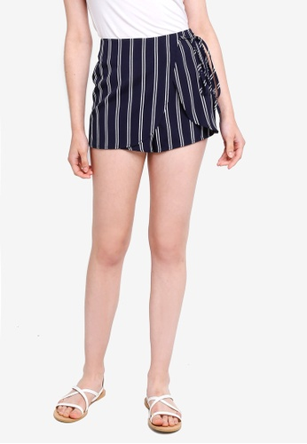 Something Borrowed navy Wrap Tie Skorts 0A8B8AA7484252GS_1