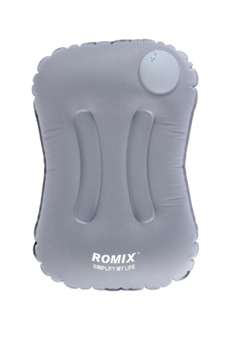 Fashion by Latest Gadget grey Romix Hand Inflatable And Foldable Travel Pillow FA499AC0KSQFPH_1