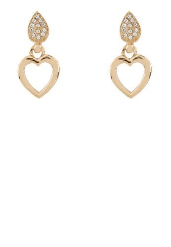 1901 Jewelry gold 1901 Jewelry Tear Heart Earrings 19910AC56TYLID_1