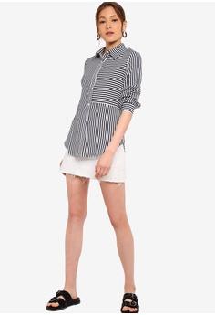 07679d85 33% OFF ZALORA BASICS Basic Stripes Blocked Shirt S$ 29.90 NOW S$ 19.90  Sizes XS S M L XL