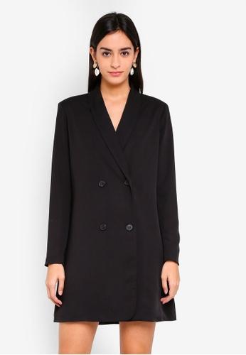 ZALORA black Tuxedo Dress C0CD9AA30782BEGS_1