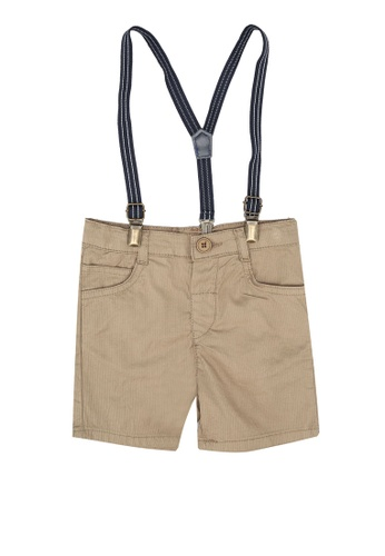 KOTON beige Strapped Shorts B36ECKAFF8AA3AGS_1