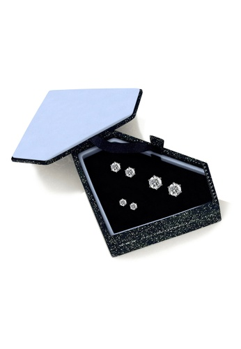 Her Jewellery silver Trinity Earrings Set - Made with Premium grade crystals from Austria 1B4D0AC74079BCGS_1