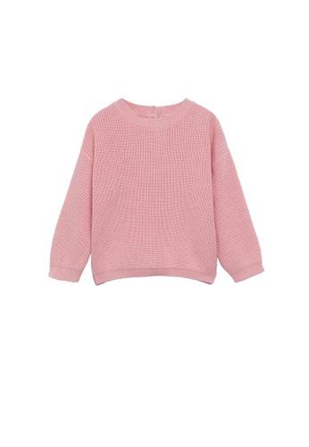 MANGO BABY pink Knit Cotton Sweater 9CB1BKA972D65DGS_1