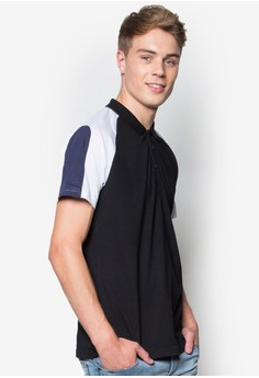 Contoured Blocking Polo Shirt