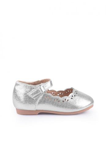Meet My Feet silver Meet My Feet Linnette (Toddlers/Kids Ballet Flats) 2D8E4KSA3F0FFEGS_1