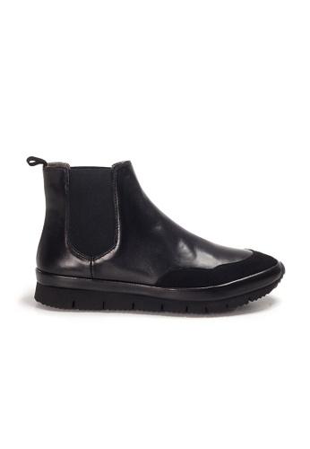 Shu Talk black XSA Comfortable Bi-leather Street Ankle Boots C8D62SH08815B5GS_1