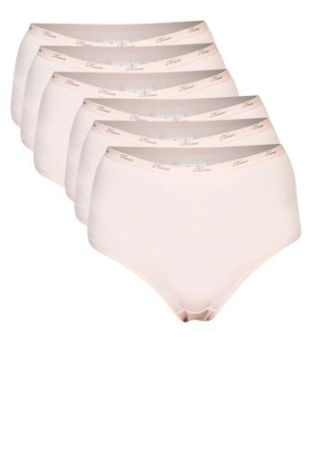 Hanes beige 6-Pack Tagless Full Panty 23A51US47F55F3GS_1