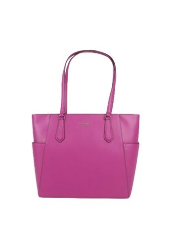 Kate Spade purple Kate Spade Medium Tippy WKRU7104 Top Zip Tote Bag In Baja Rose F4746ACAD6E1CFGS_1