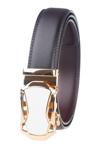 FANYU brown Leather Dress Belt With Automatic Buckle AE2A6AC9476913GS_1
