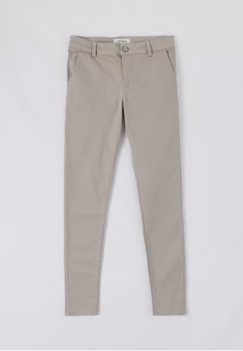 Terranova grey Trousers With Front Hip Pockets 86D83AA46D3B14GS_1