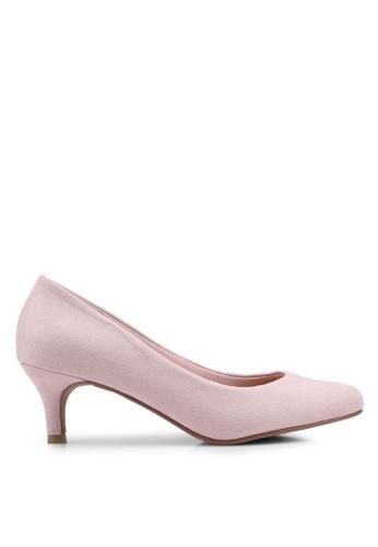 f817ca72561a VINCCI pink Round Toe Pumps Heels E0DA6SH39B39CAGS 1