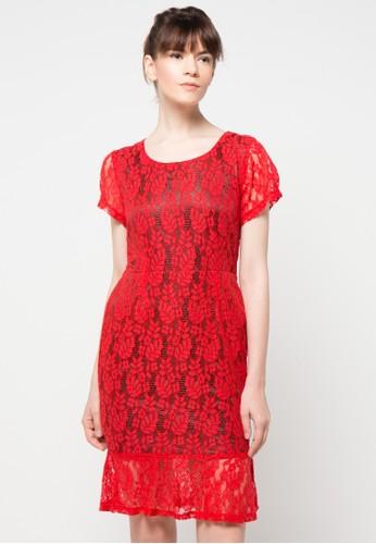 Raspberry red Veronika Mini Dress RA572AA70ICBID_1