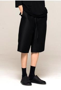 Noirer-花呢丝绸中分裤
