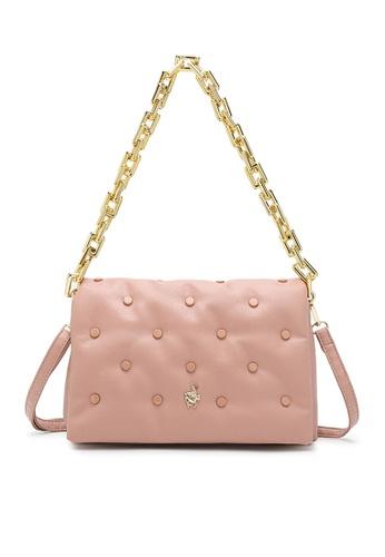 Swiss Polo pink Studded Sling Bag E6638AC164450FGS_1