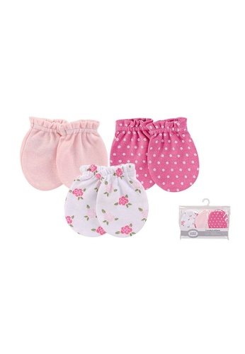 Little Kooma pink Luvable Friends Baby Scratch Mittens 3 Pairs Pack 00530 7917FKC86AA4FBGS_1