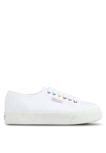 Superga white Cotw Colors Hearts Sneakers F578FSH61A351BGS_1