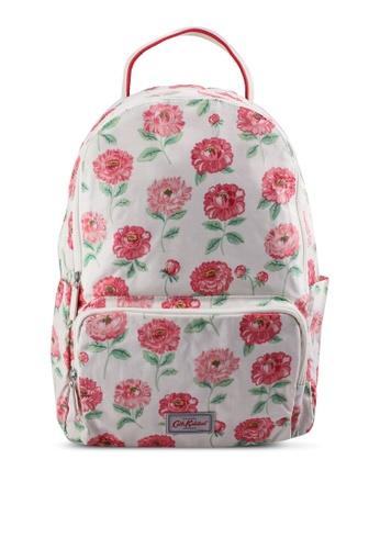 Cath Kidston white Dahlia Pocket Backpack 5DBCFAC47BBB05GS_1