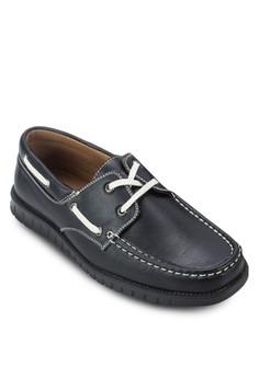 Faux Leather Boat Shoe