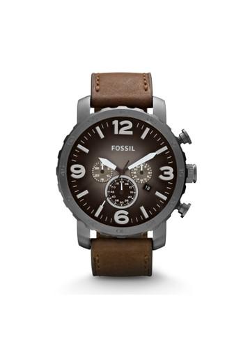 Fossil NATE時尚型男錶 JR1424, 錶類, esprit女裝時尚型