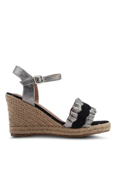 8777f4646cbf VANESSA WU black and grey Genn Wedges 26B7DSH33875CBGS 1